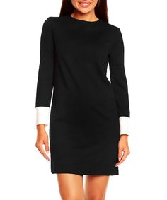 Black & white long-sleeved dress by PEPERUNA on secretsales.com