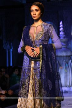 These deep purples are to die for. From JJ Valaya Delhi Couture Week 2012.