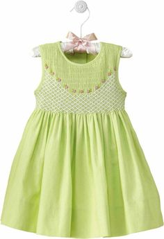 Adorable lime green dress.
