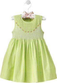 Adorable lime green dress.