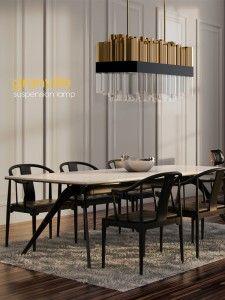 Granville Suspension Lamp, for the greatest contemporary design projects. Mid-century Interior, Interior Architecture, Interior Design, Luxury Lighting, Interior Lighting, Industrial Lighting, Modern Lighting, Lighting Design, Dining Room Inspiration