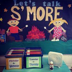 My Pinterest inspired Speech bulletin board  #Let'sTalkS'more