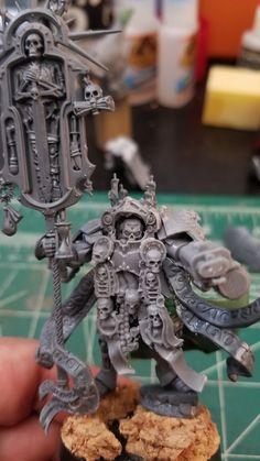 Good Word Of The Emperor: Conversion Corner - Spikey Bits Warhammer 40k Figures, Warhammer Models, Warhammer 40k Miniatures, Warhammer 40000, Space Marine Chaplain, Dark Angels 40k, Grey Knights, Deathwatch, Tyranids