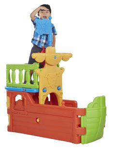AmazonSmile: ECR4Kids Buccaneer Boat with Pirate Flag: Toys & Games