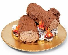 Campfire Cake - cute for boy scouts or camping party