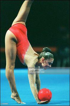 Gymnastics in Sydney, Australia on September 26, 2000 - Rythmic gymnastic: Alina Kabaeva.