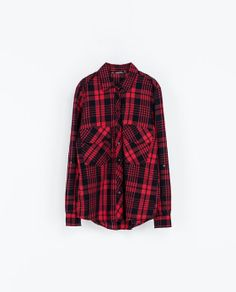 CHECKED SHIRT from Zara