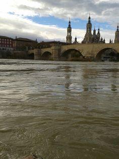 Zaragoza. Río Ebro y Basílica de Ntra. Sra. Del Pilar