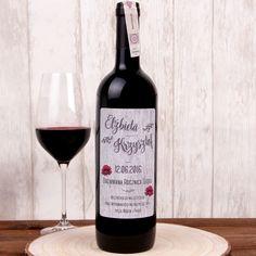 Personalizowane Czerwone Wino DREWNIANA ROCZNICA