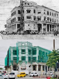 Dito, Noon: The Gosiaco Building, Cebu, 1945 x 2020 #kasaysayan — Built in 1914, it was one of the first commercial building in Cebu. It was rebuilt after being damaged in WWII and is currently being transformed into a museum. Manila Philippines, Chamber Of Commerce, Cebu, Present Day, Wwii, Commercial, Museum, The Originals, History