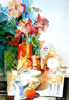 Watercolour-Acuarela-Corneliu-Dragan-Targoviste-natura-moarta-compozitie-3.jpg 620×902 pixels