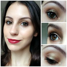 Tutorial Olho Brilhante + Batom Vibrante   New in Makeup
