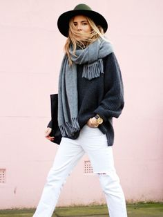 Grays and white denim for fall