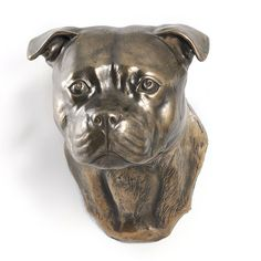 English Staffordshire Terrier dog hanging by ArtDogshopcenter