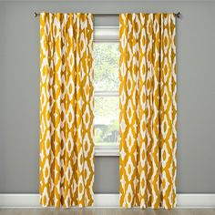 Summer Fret Curtain Panel - Project - image 1 of 2 Mustard Yellow Curtains, Beige Curtains, Drapes Curtains, Curtain Panels, Target Curtains, Light Blocking Curtains, Beautiful Curtains, Light Filter, Room Essentials