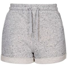 TopShop Sport Runner Shorts ($20) ❤ liked on Polyvore featuring activewear, activewear shorts, shorts, bottoms, grey marl, sports jerseys, topshop, sports activewear and sport jerseys