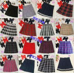 japanese style school uniform plaid pleated skirt