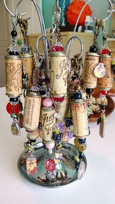 pretty cork keychains!
