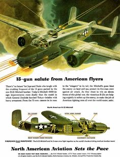 North American Aviation WW2 illustrations