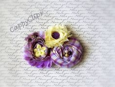 NEW Lavender and pale yellow Beaded Newborn by CappyClips on Etsy #integritytt