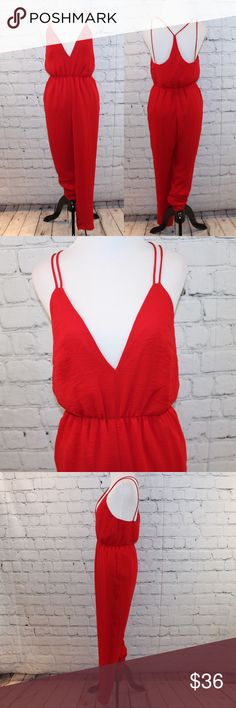 Bless'ed are the meek red jumpsuit Excellent condition Bless'ed Are the Meek Pants Jumpsuits & Rompers