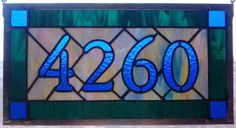 Custom Stained Glass Address Plaque House Numbers by cityfreeglass Custom Stained Glass, Faux Stained Glass, Stained Glass Designs, Stained Glass Panels, Stained Glass Projects, Stained Glass Patterns, Leaded Glass, Mosaic Glass, Mosaic Projects