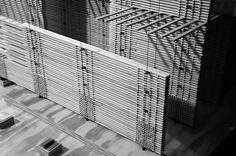 Peter Zumthor Swiss Pavilion Structural Model by Garrett Knoll, via Behance