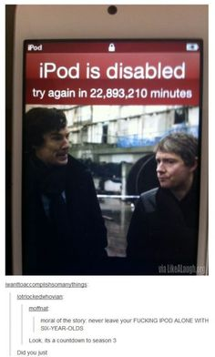 A countdown to season 3 of Sherlock This is 43.5 years!!!! How in the fucking hell!?!?