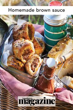 Pair your sausage rolls with homemade brown sauce at your next picnic, or enjoy as a cooked breakfast condiment. Get the Sainsbury's magazine recipe Magazine Recipe, Brown Sauce, Good Food, Yummy Food, Sausage Rolls, Sainsburys, How To Make Breakfast, Food Trends, Recipe Of The Day
