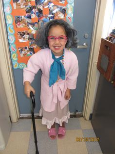 Have students dress up like they are 100 years old on the 100th day. Love this idea.