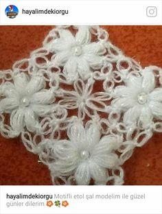 Crochet Daisy, Filet Crochet, Crochet Shawl, Crochet Doilies, Crochet Yarn, Crochet Flowers, Crochet Stitches, Margarita Crochet, Loom Flowers