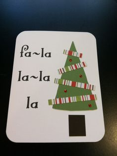 Fa-La-La Christmas card