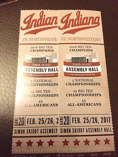 #Tickets Indiana University Hoosiers vs. Northwestern Basketball tickets+parking 2/25/17 #Tickets