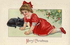 Google Image Result for http://vintageholidaycrafts.com/wp-content/uploads/2008/11/vintage-victorian-christmas-card-black-cat-little-girl-red-dress-xmas-tree.jpg