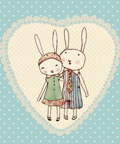 Maileg Bunnies in Love Card