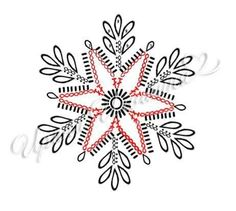 Crochet ideas that you'll love Crochet Snowflake Pattern, Christmas Crochet Patterns, Crochet Snowflakes, Holiday Crochet, Christmas Snowflakes, Crochet Ball, Crochet Chart, Crochet Motif, New Year's Crafts