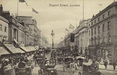 Regent Street, London (b/w photo) Frith postcard, from Bridgeman Education