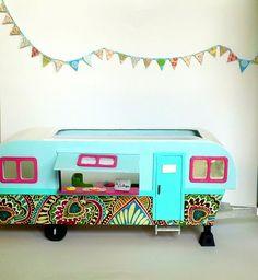 Home Is Where You Park It - Vintage Retro 1970's Travel Trailer-Vintage RV-Vintage Camper-Doll house. $65.00, via Etsy.