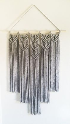 Macrame Gray Wall Hanging by CreativeChicShop on Etsy