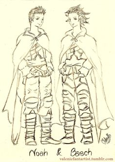 The Twins: Noah & Basch by valeniefantartist on Tumblr http://valeniefantartist.tumblr.com/