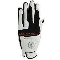 Copper Tech Men's Golf Glove, Left Hand, Black