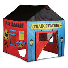 Pacific Play Train Station House Tent - 31650