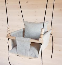 7ea683c3687d Baby Swing   Ships Fast   Toddler Swing  Natural Linen Swing  Linen Swing   Indoor Swing First Birthday Gift  Fabric Swing