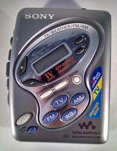 Sony Walkman TV/FM/AM Radio & Cassette Player WM-FX281 Mega Bass Tested Works #Sony