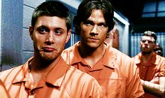 folsom prison blues. nothing better than some incarcerated winchesters. <3 #supernatural
