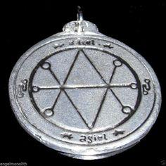Saturnus Meton Siegel versilbert Amulett Schutz Abwehr Glück Erfolg Energie Mut