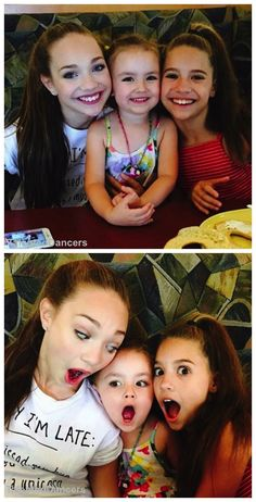 Maddie and Mackenzie with their cute cousin Natalya FOLLOW @TalentedDancers