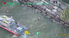 Dramatic video shows U.S. Coast Guard crew rescuing man in Lake Erie
