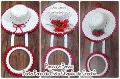 Artes da Desi: Passo a passo Porta Pano de Prato Chapéu de Crochê http://www.artesdadesi.com/2015/11/passo-passo-porta-pano-de-prato-chapeu.html