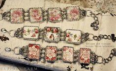 Bracelets from broken china by Gmomma